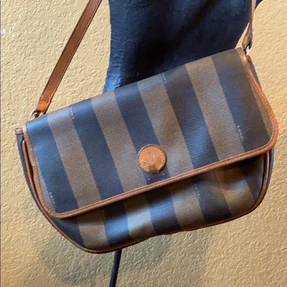 Authentic NM Vintage Fendi Crossbody Purse Bag
